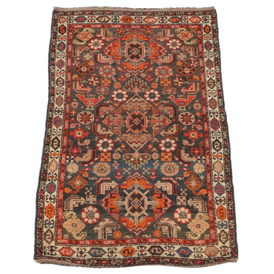 3'8 x 6'2 Hand-Knotted Persian Khamseh Wool Rug
