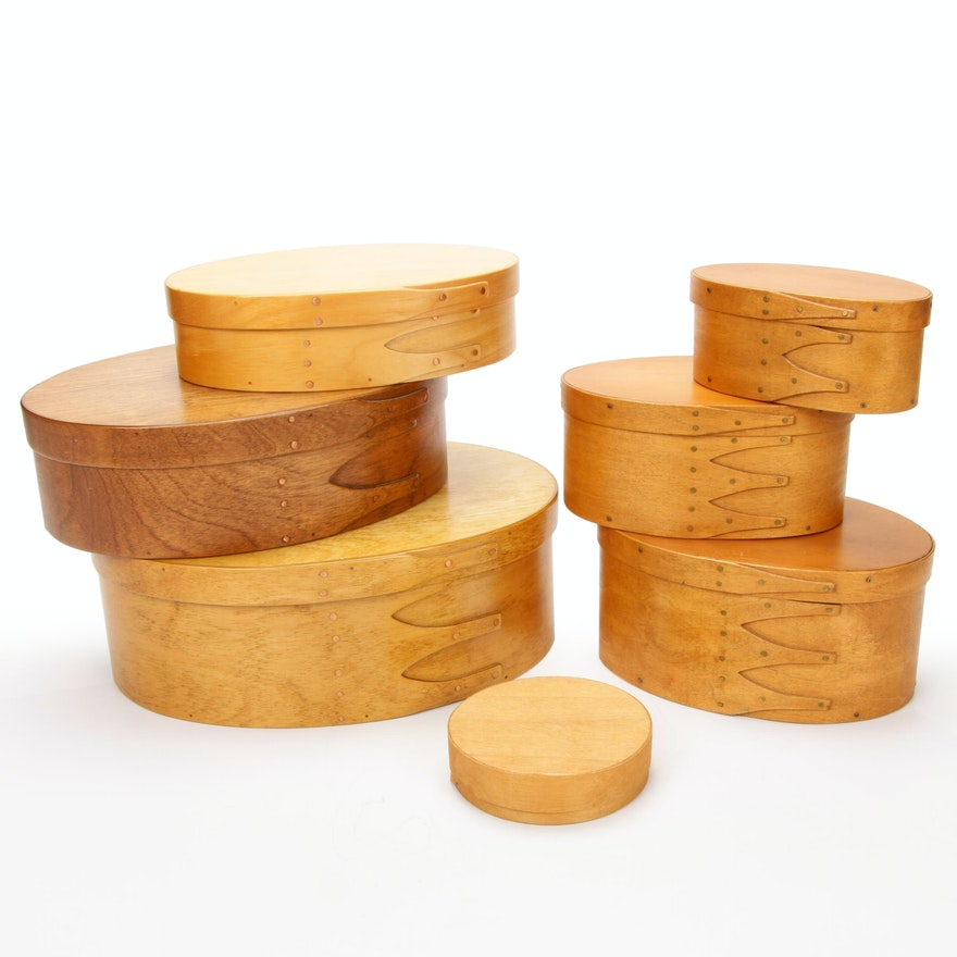 Don Darragh Maple Spice Pantry and Village Woodworks Shaker Nesting Boxes