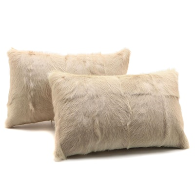 Bloomingville Dyed Goat Fur Accent Pillows