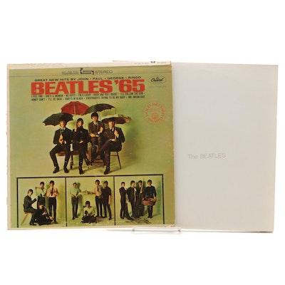 "The Beatles White Album and ""Beatles '65"" Vinyl Records"