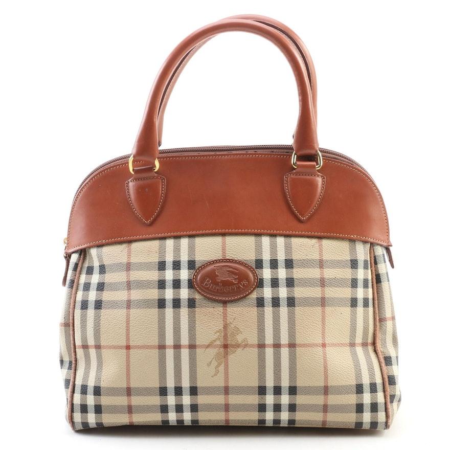 "Burberrys ""Haymaker Check"" Leather Handbag"