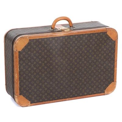 Louis Vuitton Combination Lock Hardside Suitcase in Monogram Canvas, Vintage