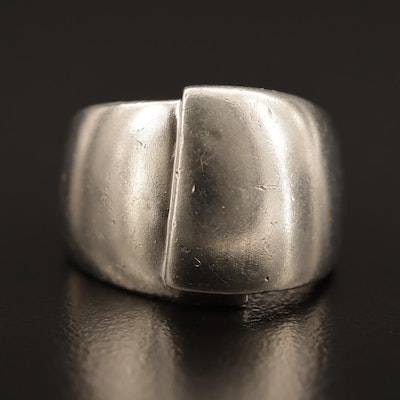 Sterling Silver Tapered Band