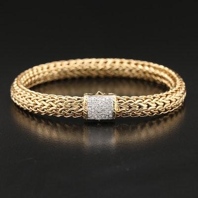 "John Hardy ""Classic Chain"" 18K Diamond Bracelet"