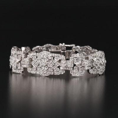 18K 5.00 CTW Diamond Bracelet with Milgrain Detailing