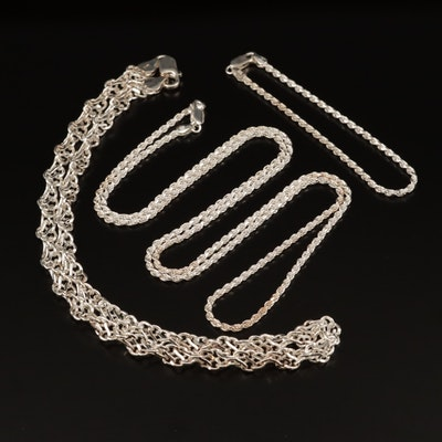 Sterling Silver Link Necklaces and Bracelet
