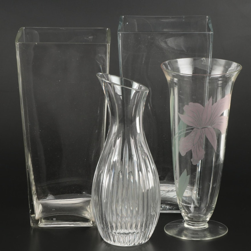 Marquis by Waterford Crystal Vase with Other Glass Vases