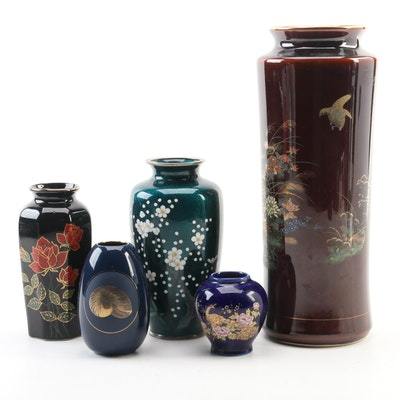 Cloisonné and Ceramic Vases, 20th Century
