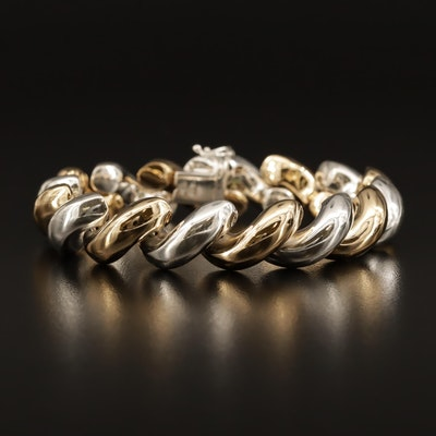 Sterling Silver San Marco Link Bracelet