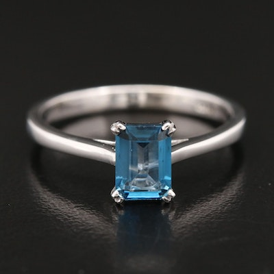 14K London Blue Topaz Solitaire Ring
