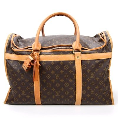 Louis Vuitton Sac Chaussures 55 in Monogram Canvas and Vachetta Leather