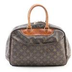 Louis Vuitton Deauville Handbag in Monogram Canvas and Vachetta Leather