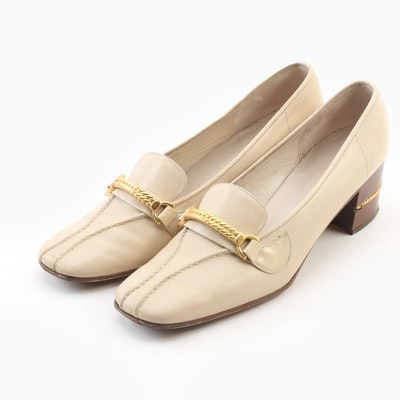 Gucci Beige Leather Loafers