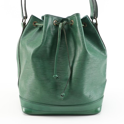 Louis Vuitton Noe In Borneo Green Epi Leather