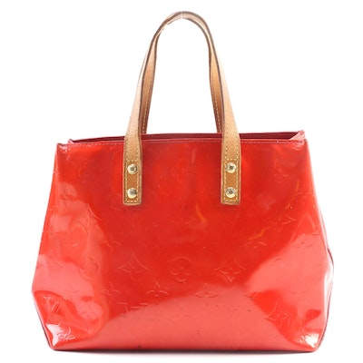Louis Vuitton Reade PM in Red Monogram Vernis Leather