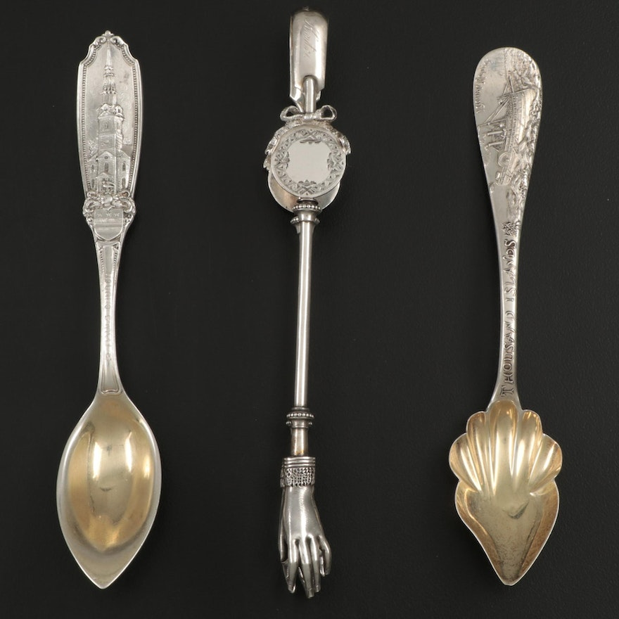 Sterling Silver Five O'Clock Teaspoons and Ice Tongs