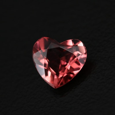 Loose 1.03 CT  Heart Faceted Tourmaline