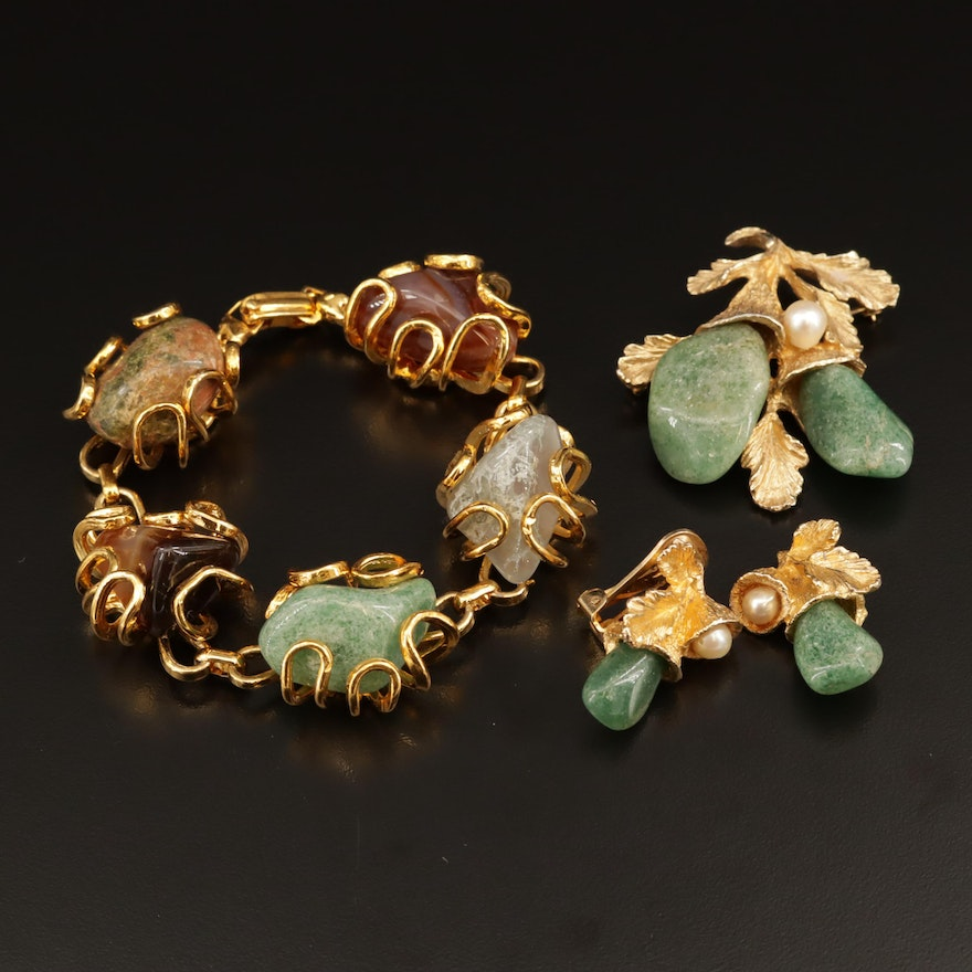 Jewelry Selection Featuring Moss Agate and Aventurine