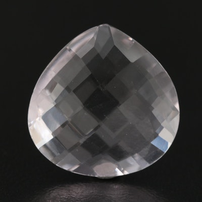 Loose 10.26 CT Pear Faceted Amethyst