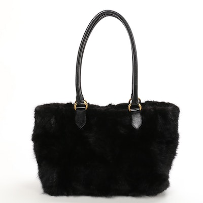 Falorni Italia Le Borse Mink and Leather Handbag