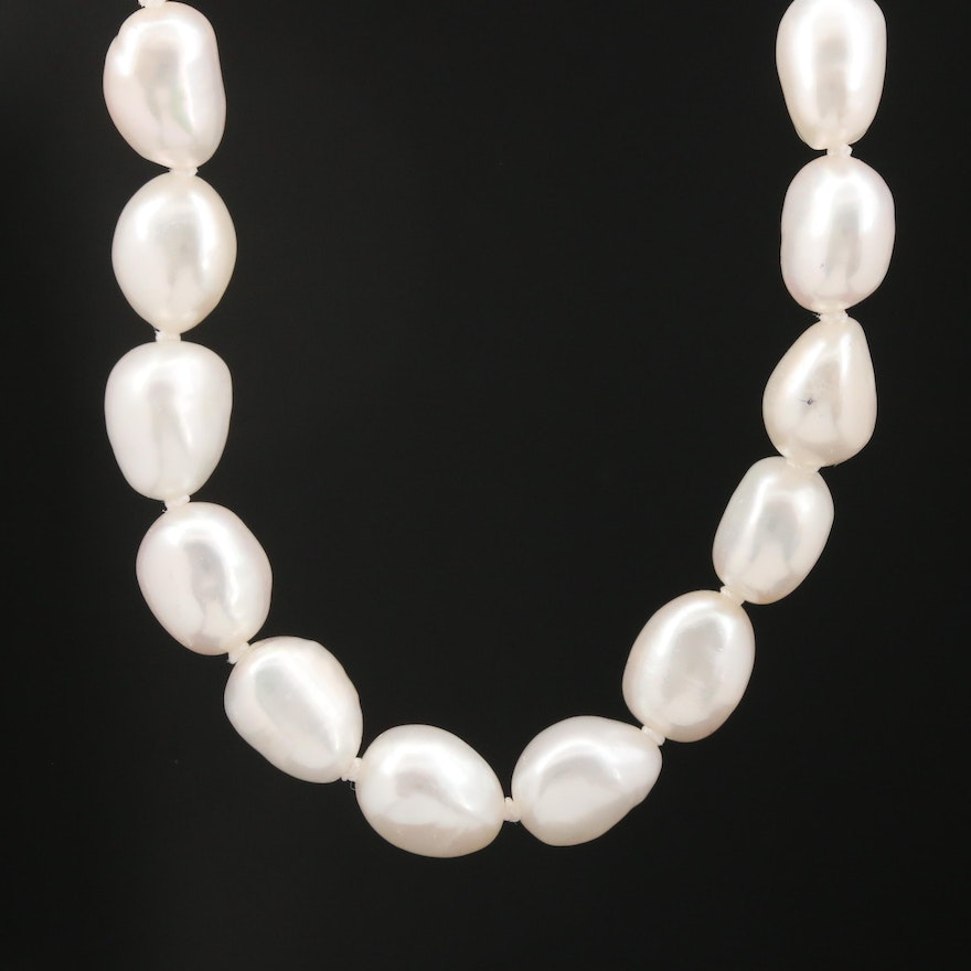 Single Strand Endless Baroque Pearl Necklace