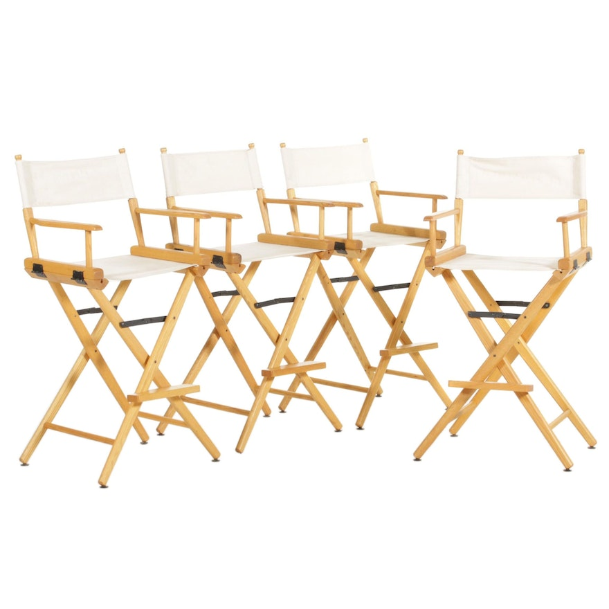 Bar Height Director Chairs, Late 20th-Early 21st Century