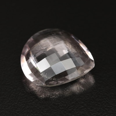 Loose 11.45 CT Pear Checkerboard Faceted Amethyst
