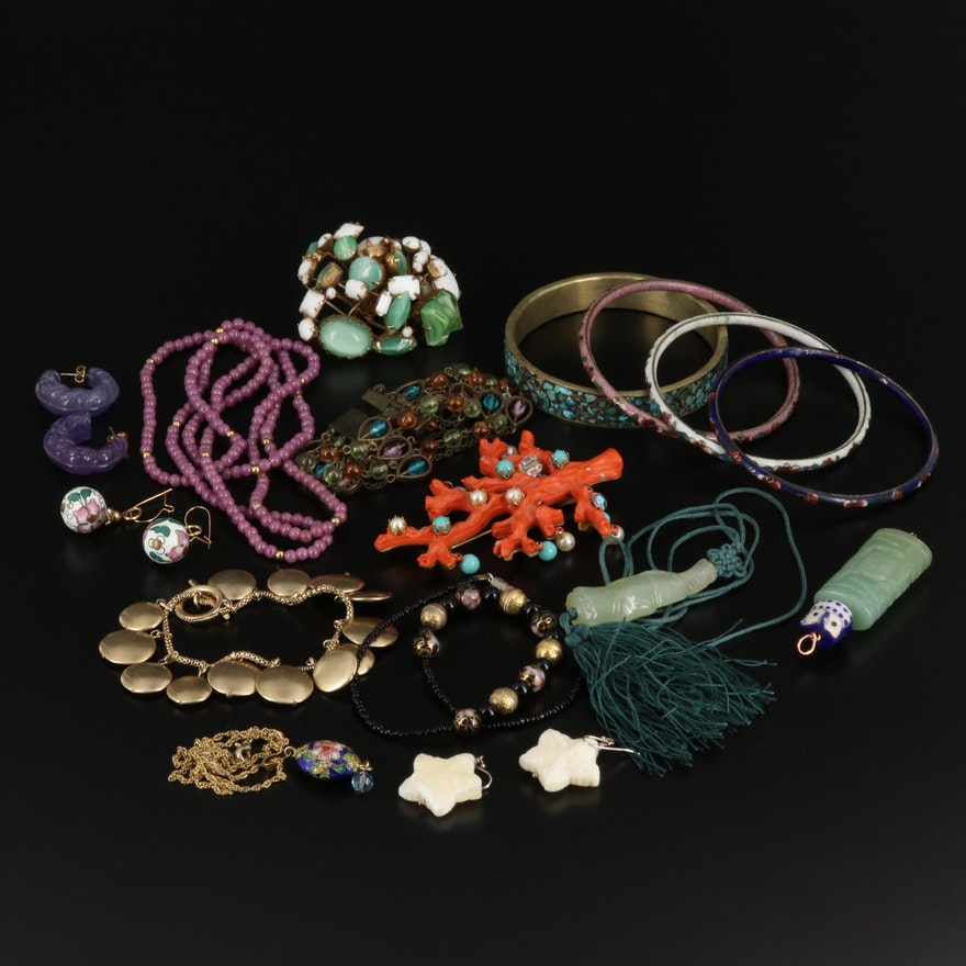 Assorted Jewelry Selection Featuring Serpentine and Aventurine