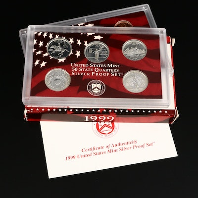 Key Date 1999 U.S. Mint Silver Proof Set