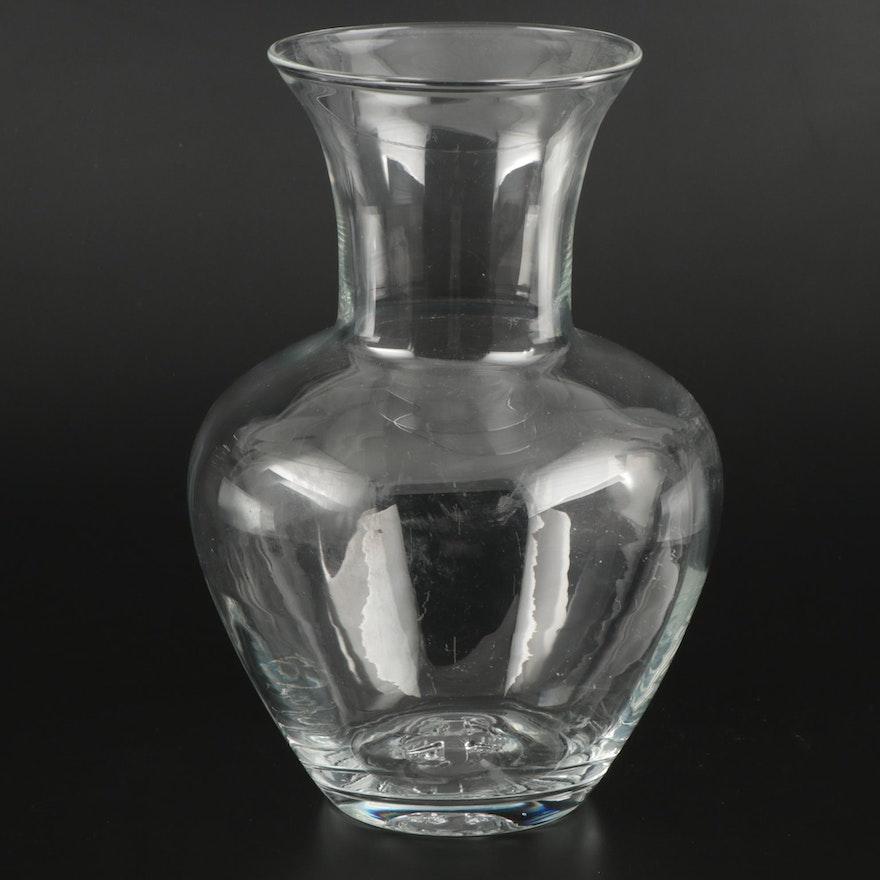 """Simon Pearce """"Shelburne"""" Hand Blown Glass Vase"""