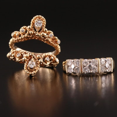 14K Diamond Ring and Ring Jacket
