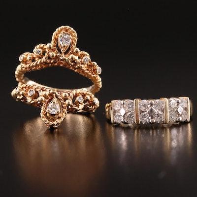 14K Diamond Ring and Ring Jacket