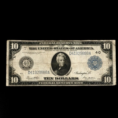 Large Format Series of 1914 $10 Federal Reserve Note