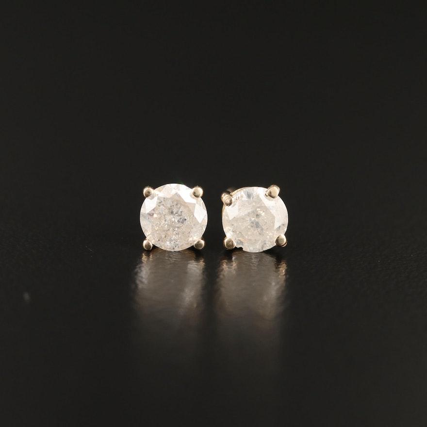 14K 1.32 CTW Diamond Stud Earrings