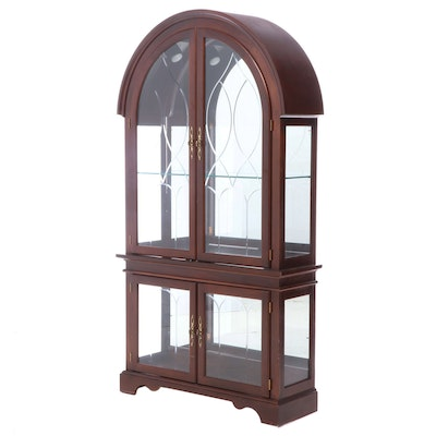 Philip Reinisch Co. Dome-Top China Cabinet, Late 20th Century