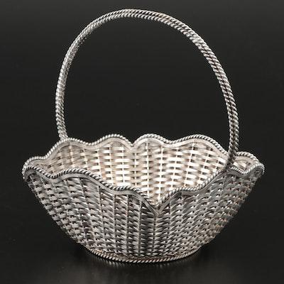Alfredo Villisana Woven Sterling Silver Basket