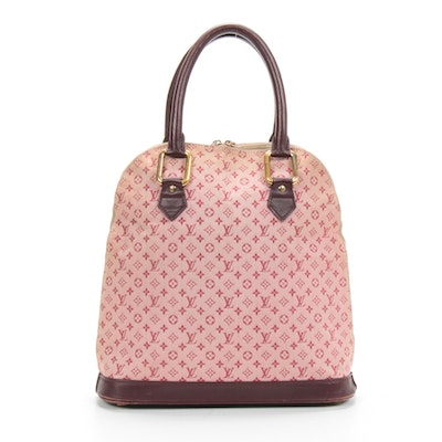 Louis Vuitton Alma Haut in Cerise Mini Lin Monogram Canvas and Leather