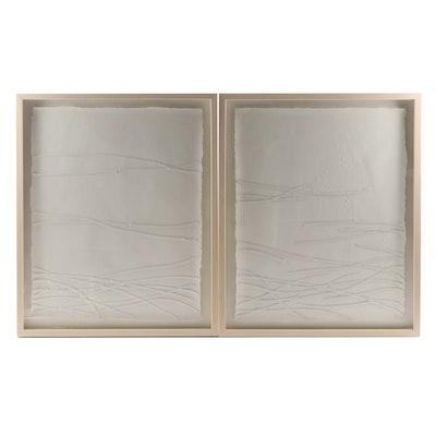 "Contemporary Acrylic Paintings ""Ribbon 3"" and ""Ribbon 7"""