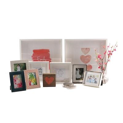 Bedroom Decor Including Ceramic Frames, Art and Picture Frames