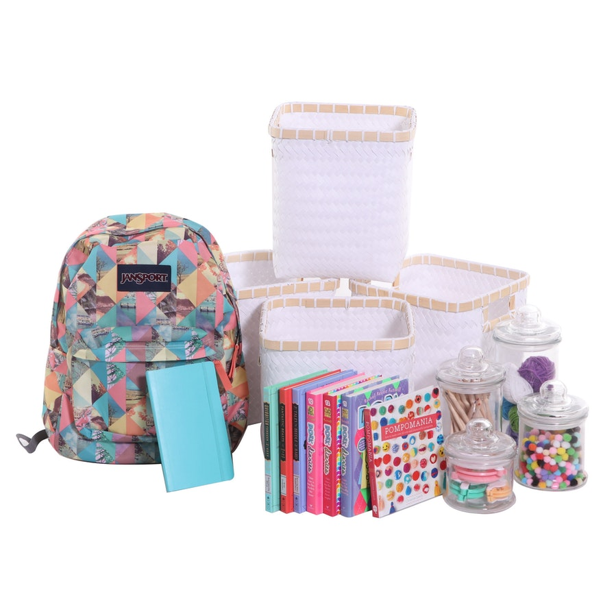 Jansport Backpack, Storage Containers, Child's Hardback Books and More