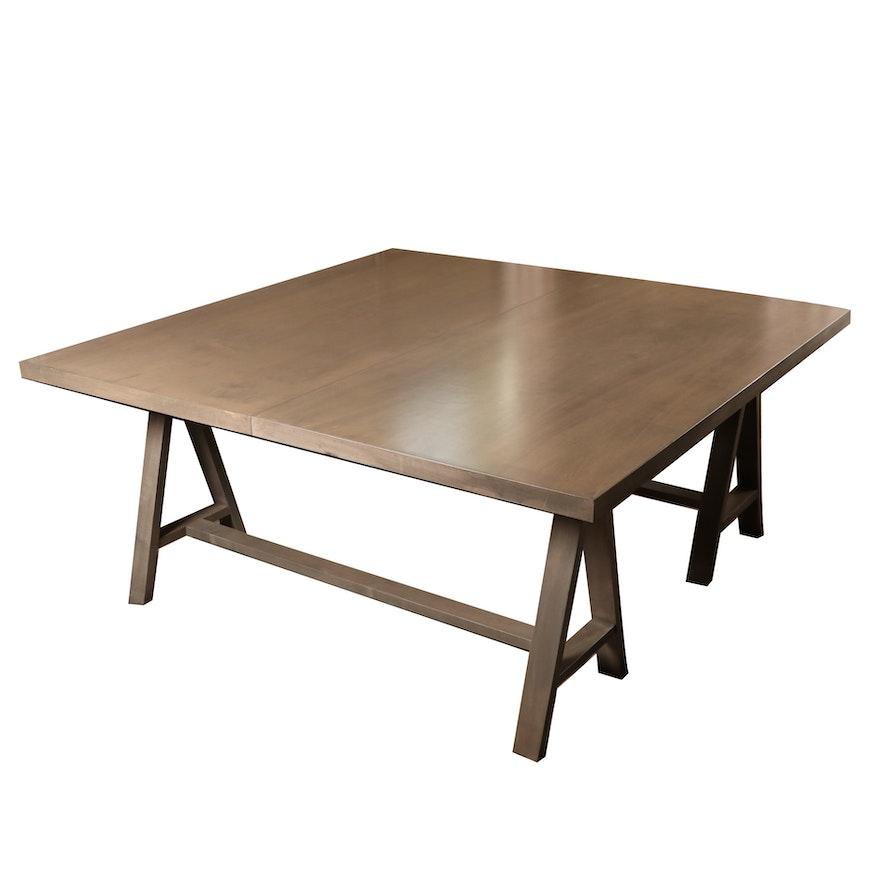 Oversize Maple Table with A-Frame Trestle Base