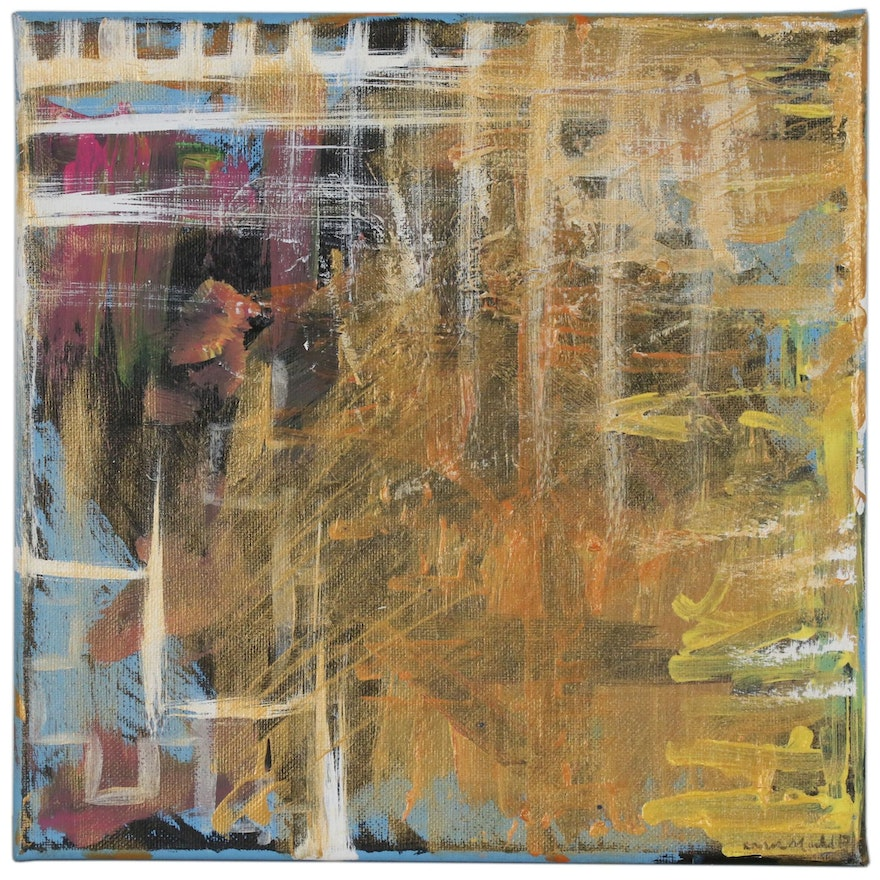 Abstract Mixed Media Painting, 21st Century