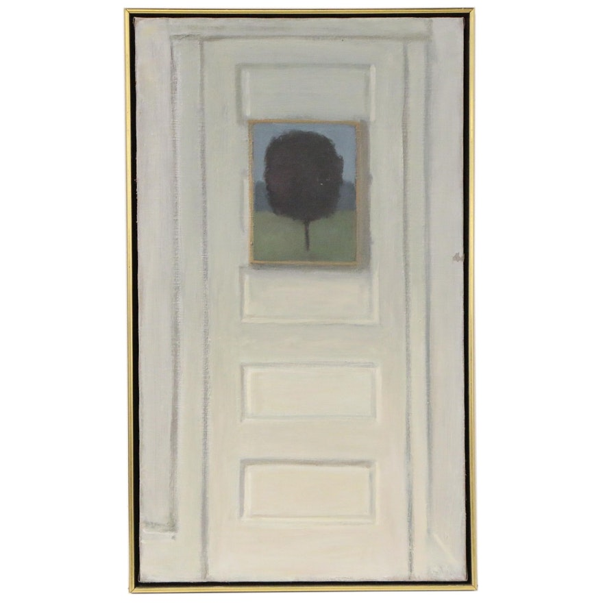 Christine Oil Painting of Door, 1975