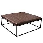 Mandalay Home Wood Plank Coffee Table With Metal Base