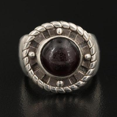 Geoart Sterling Silver Garnet Ring