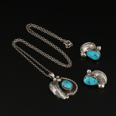 Harry Jake Navajo Diné and Carmelite Simplicio Zuni Sterling Turquoise Jewelry