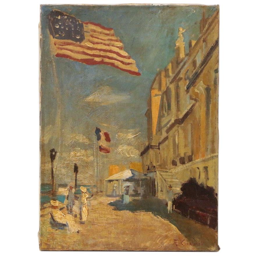 "Oil Painting after Claude Monet ""Hotel des Roches Noires in Trouville"""