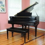 Vose & Sons Baby Grand Piano with Bench, Mid to Late 20th Century