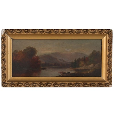 Hudson River School Oil Painting, Late 19th Century