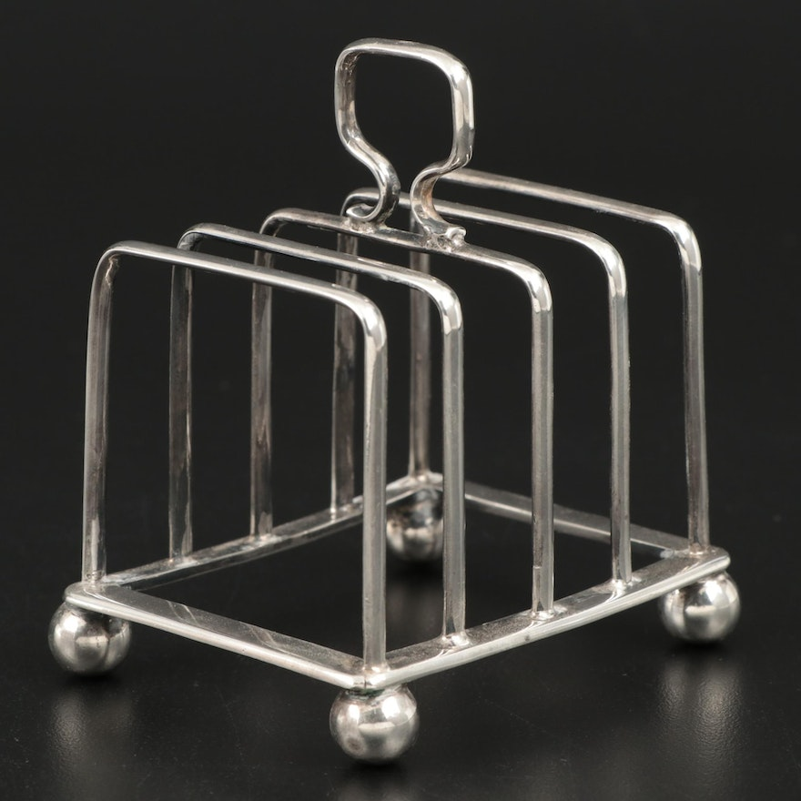 Horace Woodward & Co. Sterling Silver Toast Rack, 1908